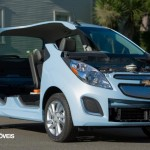 first view New Chevrolet Spark EV cut view 2013