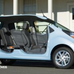 first view New Chevrolet Spark EV profile cut right view 2013