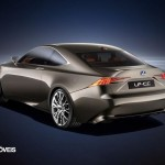 New Lexus IS 2013 rear profile left view