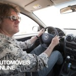 Top Gear team testing Dacia Duster driving view