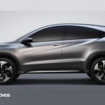 New prototype Honda Urban Suv profile view 2013
