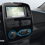 New Renault Zoe interior console 2013 electric