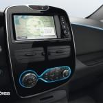 New Renault Zoe interior console 2013 electric