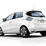 New Renault Zoe left rear profile 2013 electric
