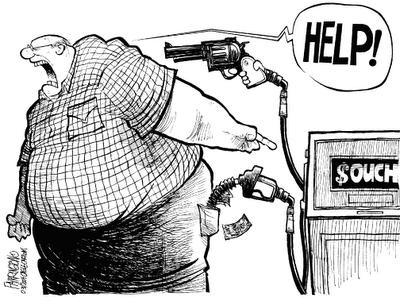 O preço baixa e o combustível sobe