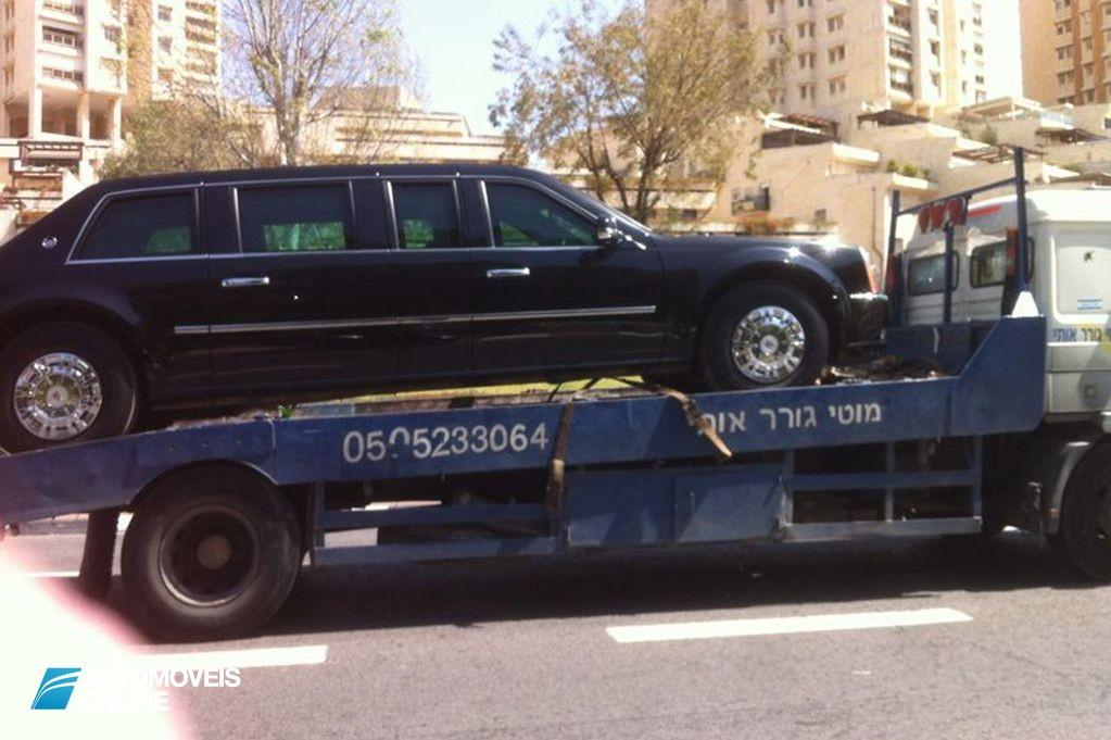 Presidente do EUA fica sem carro! Carro presidencial de Barack Obama rebocado em Israel