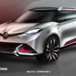 New Crossover Concept CS MG 2014 left View