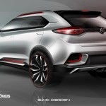 New Crossover Concept CS MG 2014 left rear View