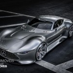 Mercedes AMG Vision Gran Turismo front top view Palystation 3 Vision Gran Turismo game 2013
