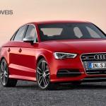 New Audi S3 Limousine 300 cv 2013 front profile view