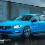 New Volvo V60 T6 Polestar quarter front right profile view 2014