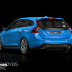 New Volvo V60 T6 Polestar quarter rear left profile view 2014