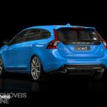 New Volvo V60 T6 Polestar quarter rear left profile view 2014