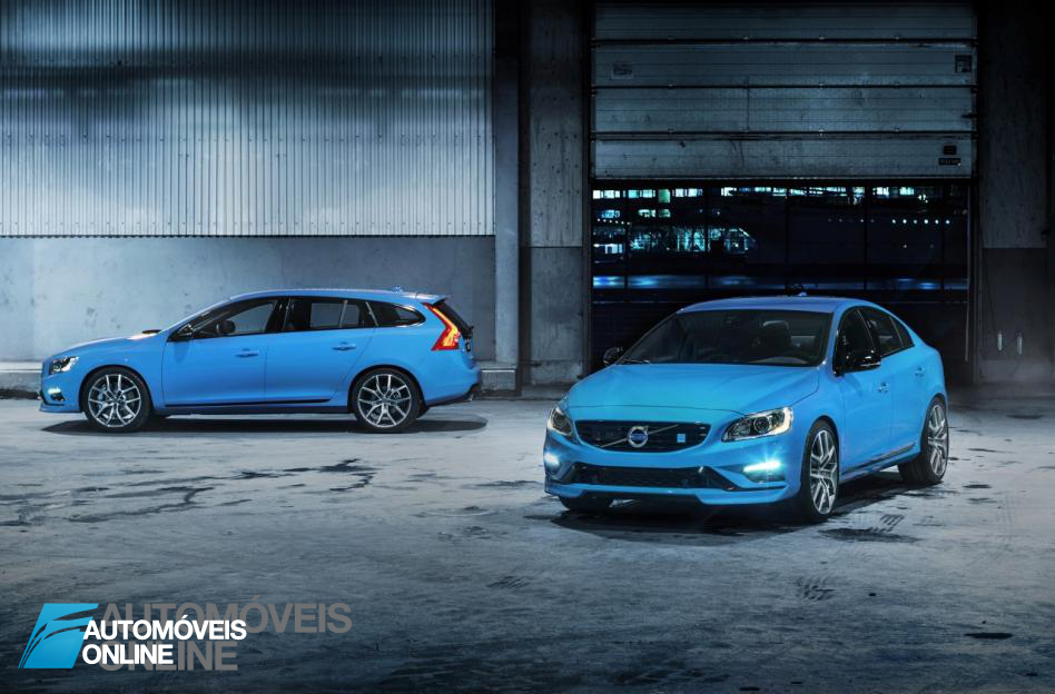 New Volvo V60 T6 Polestarfront and profile view 2014