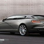 Aston Martin Rapide Jet 2+2 rear left quarter view