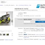 Carro desenhado por Valentino Rossi foi a leilão