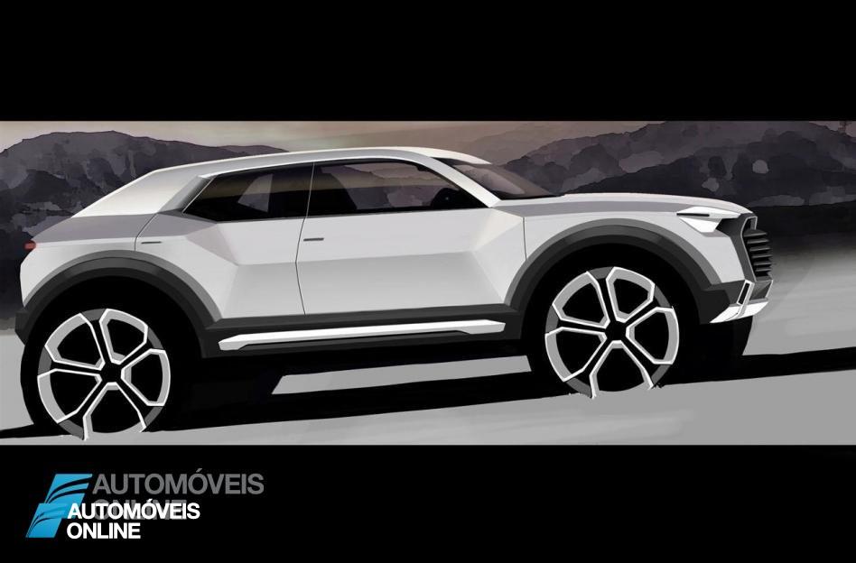 Linda revelação! Primeiro esboço do Audi Q1