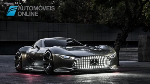 Mercedes-Benz Vision Grand Turismo right front view lights on production 2015