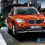 New BMW X1 Presentation Salon Detroid 2014 Front View on road