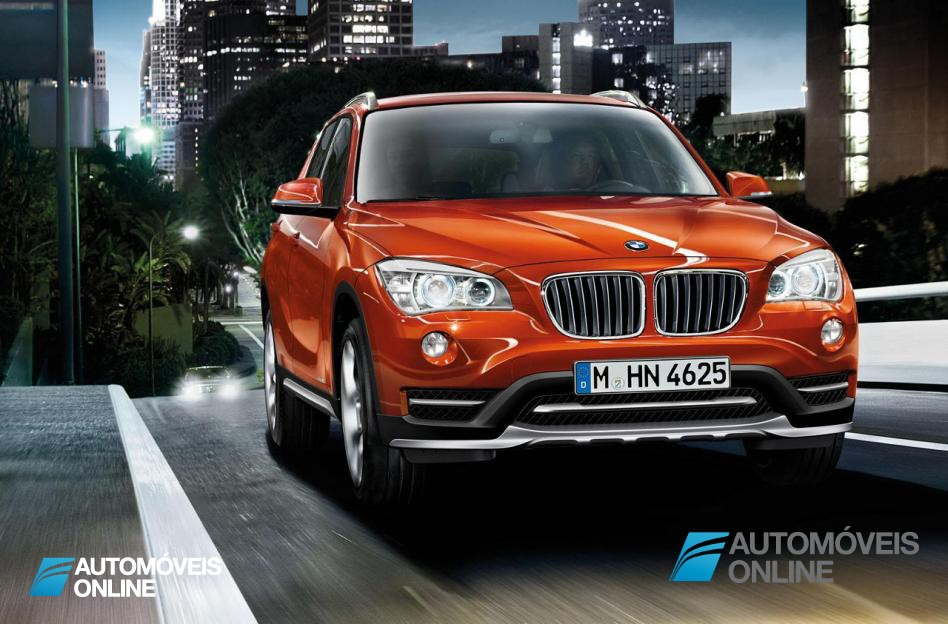 New BMW X1 Presentation Salon Detroid 2014 Front View on road