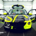Opel Adam Design by Valentino Rossi on paint stage Front view