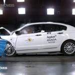 EuroNCAP 2013 Crash teste Qoros 3 Sedan profile view