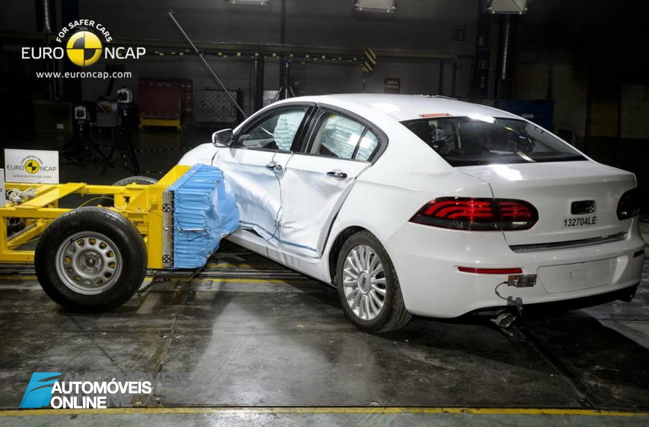 EuroNCAP 2013 Crash teste Qoros 3 Sedan rear view