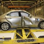 EuroNCAP 2013 Crash teste lexus profile view