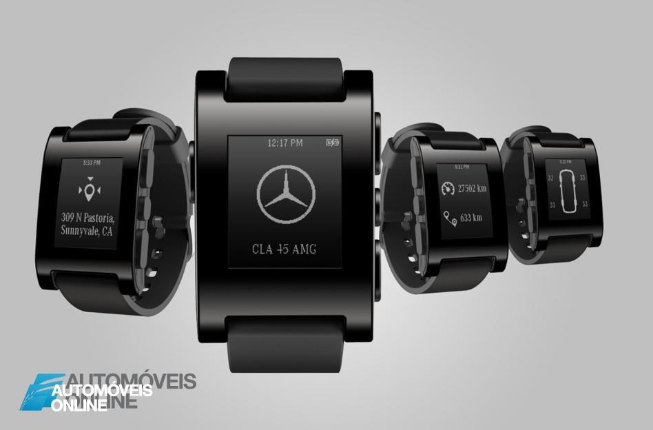Inovação Mercedes-Benz! Germânicos revelam relógio que fala com o carro