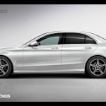 New Mercedes-Benz Classe C 2014 left profile view