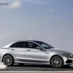 New Mercedes-Benz Classe C 2014 right profile street silver view