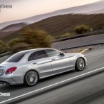 New Mercedes-Benz Classe C 2014 right profile street view