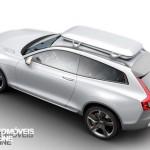 New volvo xc90 concept xc coupe - Top left profile view - Detroit Salon 2014