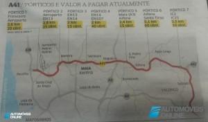 Portagens! Governo vai retirar três pórticos na ex-Scut A41 na Maia