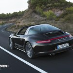 new Porsche 911 Targa 2015 black rear view