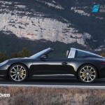 new Porsche 911 Targa 2015 front and rear view