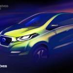 Datsun redi-GO Concept 2014 presentation draw view