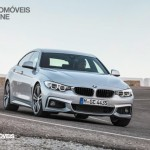 New BMW Serie 4 Coupe 2014 not oficial foto front quarter right view