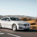New BMW Serie 4 Coupe 2014 not oficial foto front quarter street view