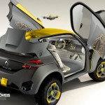 Renault Kwid Concept Crossover 2014 wing door open view