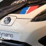 MG Dynamo EV concept left front teaser view 2015