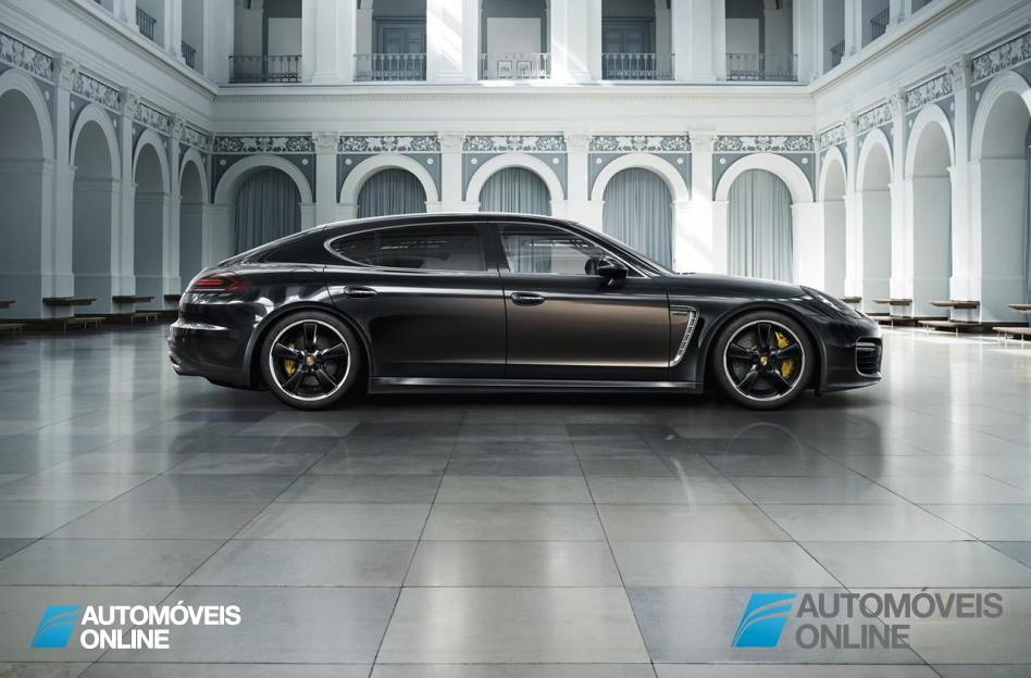 Porsche Panamera Exclusive Editionright profile view 2014