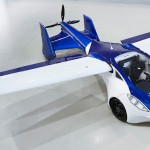 fly car Aeromobil 2017 front right top view