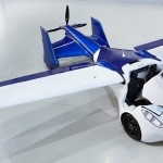 fly car Aeromobil 2017 front right top wings open view