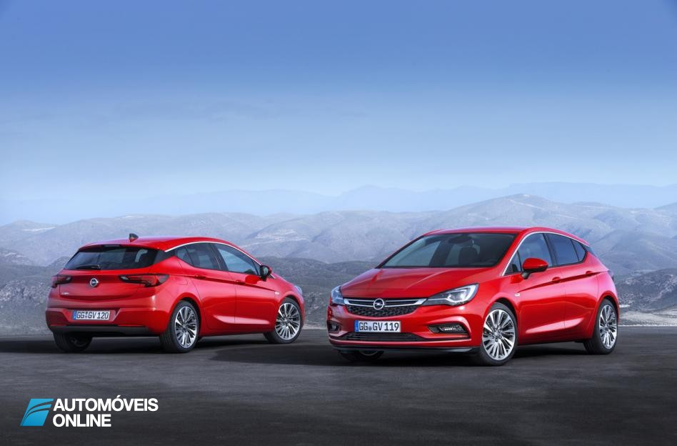 New Astra K front and rear view 2015