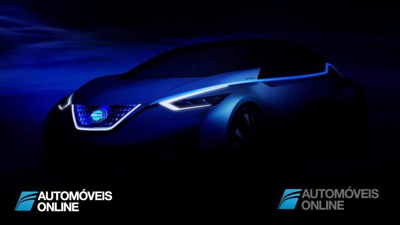 Nissan divulga o primeiro esboço do estudo de novo modelo elétrico