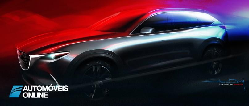 Mazda CX-9. Veja os primeiros traços
