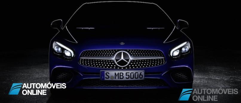 Novo Mercedes SL. Esta é a primeira imagem