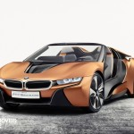New BMW i8 concept left front quarter view 2016