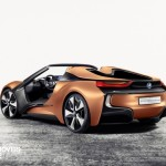 New BMW i8 concept left rear profile view 2016